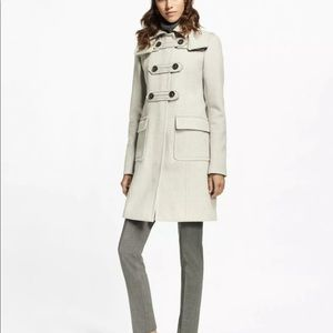 Brooks Brothers Grey Wool-Cashmere Duffle Coat
